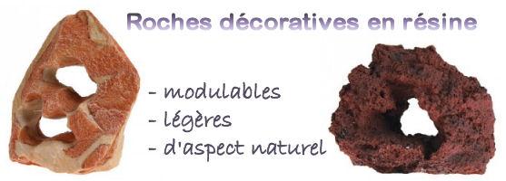 Roches décoratives en résine