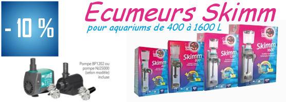 -10% Ecumeurs Skimm pour aquariums de 400 à 1600 L