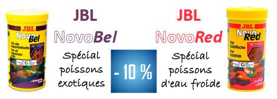 -10% JBL Novobel spécial poissons exotiques / JBL Novored spécial poissons d'eau froide