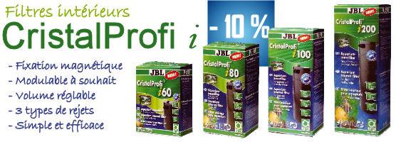 -10% Filtres intérieurs JBL JBL CristalProfi i / Fixation magnétique / Modulable à souhait / volume réglable / 3 types de rejets / simple et efficace