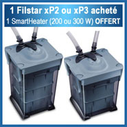 1 filtre Filstar xP2 ou xP3 acheté = 1 chauffage SmartHeater (200 ou 300W) OFFERT