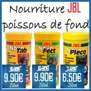 Promo Nourriture JBL pour poissons de fond