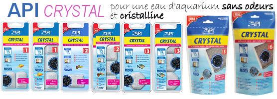 API Crystal, pour une eau d'aquarium sans odeurs et cristalline.