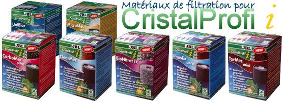 Toute une gamme de cartouches de filtration simples et très pratiques pour les filtres JBL CristalProfi i