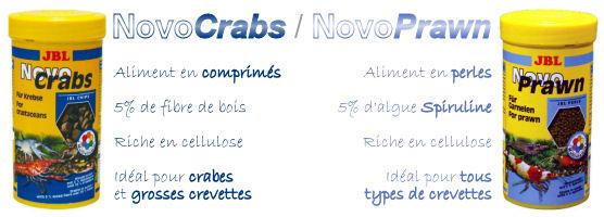 JBL NovoCrabs et JBL NovoPrawn, l'alimentation idéale pour tous vos crustacés d'eau douce !