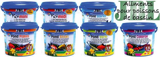 Aliments pour poissons de bassin JBL