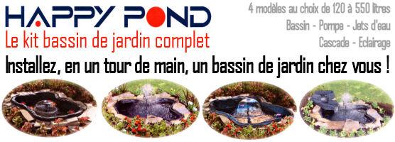 Happy Pond, Le kit bassin de jardin complet !