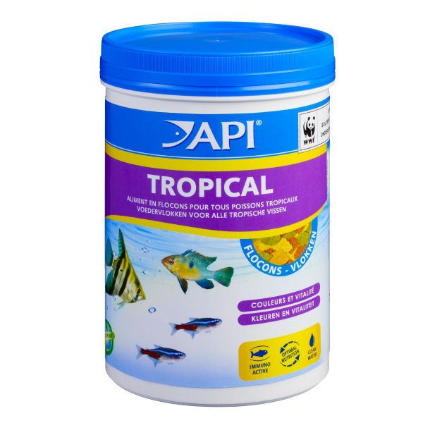 flocon pour poisson api tropical flocons aliment pour poissons tropicaux