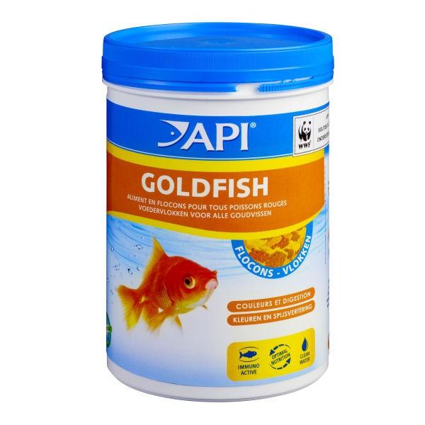 Api goldfish flocons aliment pour poissons rouges for Flocon pour poisson