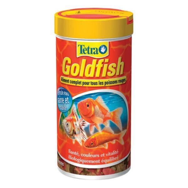 Tetra goldfish aliment en flocons pour poissons d 39 eau froide for Goldfish nourriture
