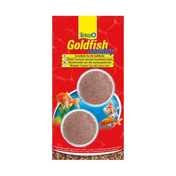 Tetra goldfish holiday nourriture vacances pour poissons for Nourriture poisson rouge carotte