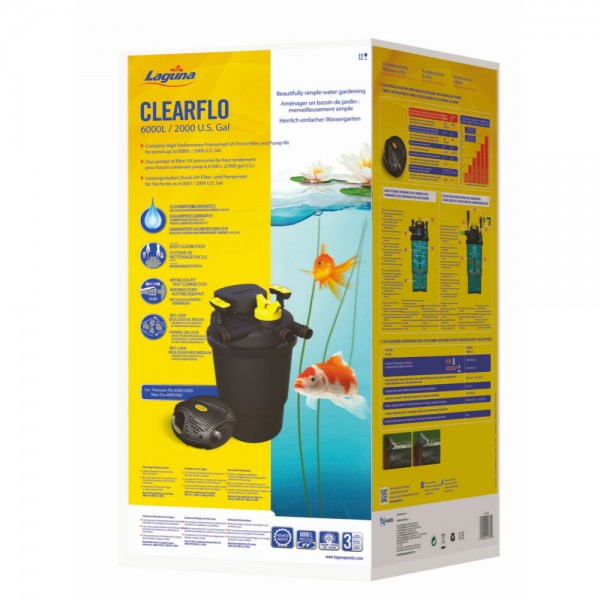 laguna clearflo 6000 kit complet de filtration pour bassin. Black Bedroom Furniture Sets. Home Design Ideas
