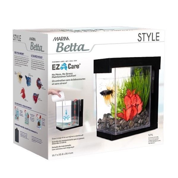 marina betta ez care 3 7l aquarium style. Black Bedroom Furniture Sets. Home Design Ideas